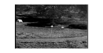 Observe F image target (use thermal imagery equipment)