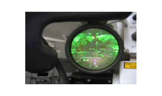 Observe tank target (use thermal imagery equipment)